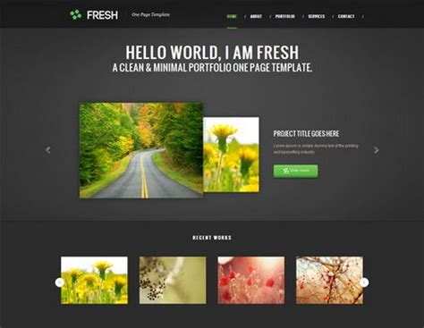 portfolio design template free 40 great free portfolio designs css html