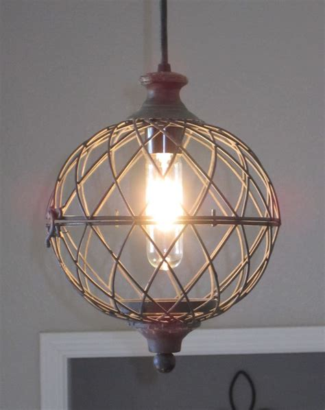 Vintage Style Painted Metal And Chandelier 4 Light Shades Of Light Wire Small Metal Globe Pendant Light Rustic Lighting Vintage Style And Vintage Industrial