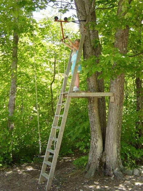 backyard zip line without trees 486 best images about tree houses and forts on pinterest