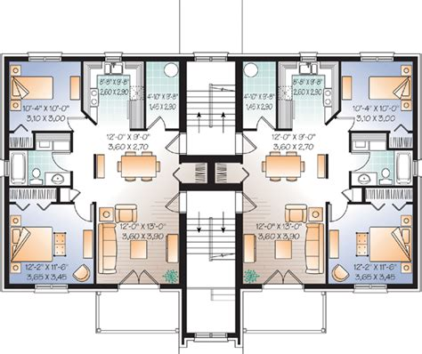 multi family house floor plans multi family plan 65533 at familyhomeplans com
