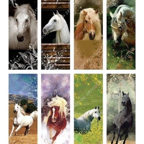 free printable horse bookmarks bookmarks horses digital collage sheet download and print