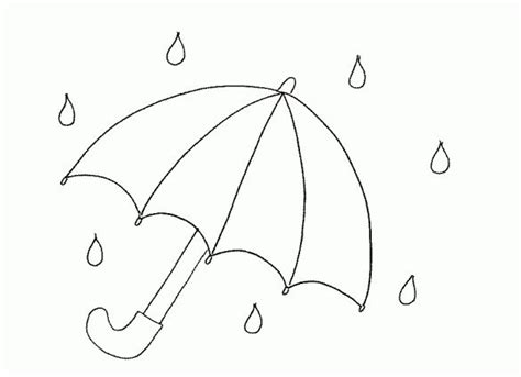 umbrella pattern to color umbrella colouring page kindergarten pinterest