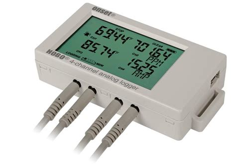 data logger hobo ux120 4 channel analogue data logger ux120 006m