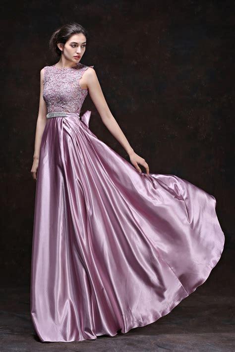 Dress Silk stunning lilac lace silk draped evening prom dress