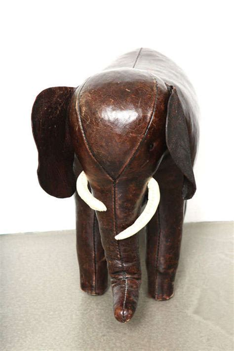 Leather Elephant Ottoman Abercrombie And Fitch Co Leather Elephant Ottoman At 1stdibs