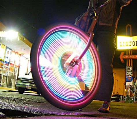 led bike wheel lights by monkeylectric hiconsumption