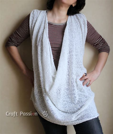 Loose Drapery Neckline Top Free Knit Pattern Craft Passion Page 2 Of 2