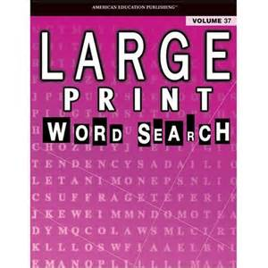 Large print word search puzzle book vol 37 school specialty