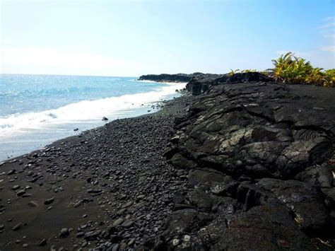 volcanic beach black sand beach on hawaii volcano tours picture of