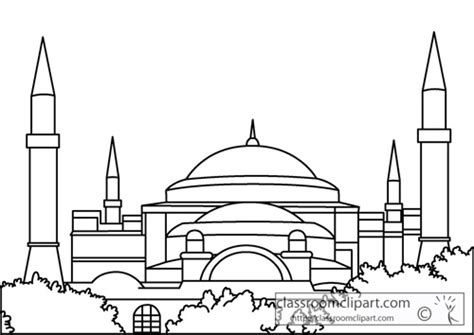 hagia sophia istanbul turkey coloring page coloring 2 hagia sofia clipart clipground