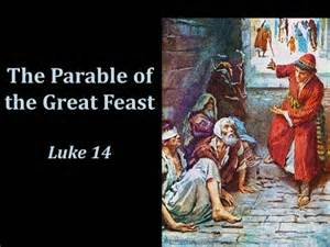 parable of the dinner the parable of the great feast luke 14