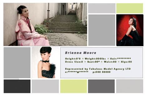 comp card template free cool zed cards get free comp card photoshop templates