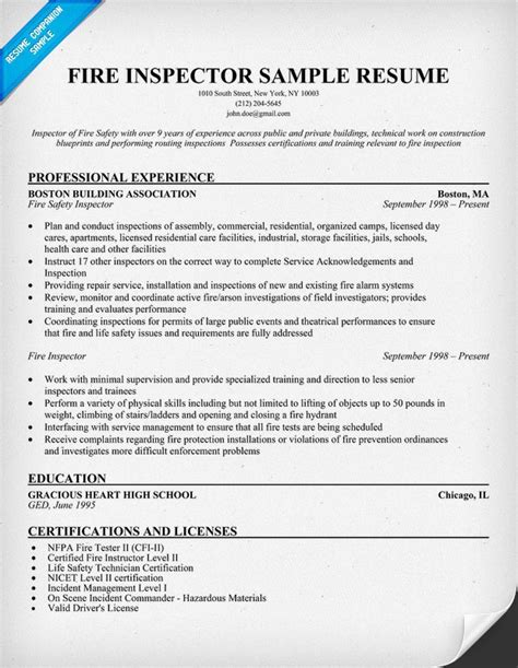 Sle Resume Objectives Quality Inspector Resume Format Qc Inspector Worksheet Printables Site