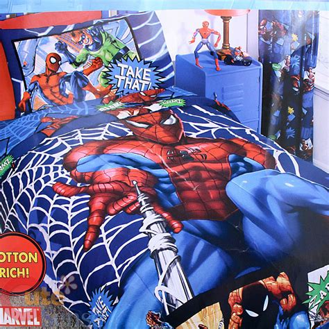 spiderman bedding set the amazing spiderman full comforter bedding 5pc set cotton rich