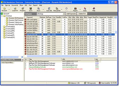 pay per click bid management bid monitoring bid optimization bid management software