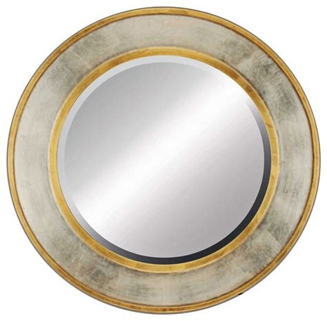 round silver bevelled mirror contemporary contempo gold and silver 34 quot beveled wall mirror contemporary mirrors