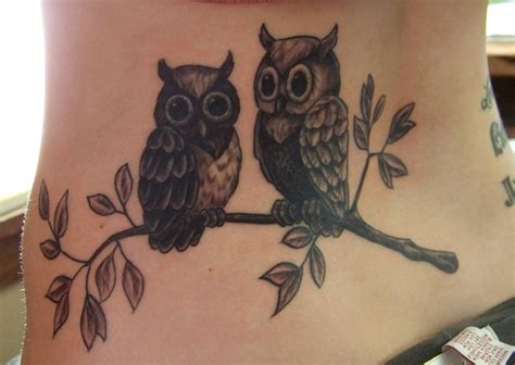 girly owl tattoo blue a few tattoos