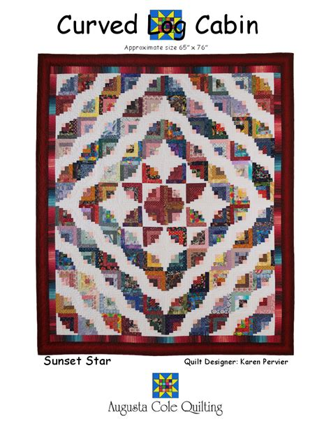 shirley s 187 augusta cole s curved log cabin pattern