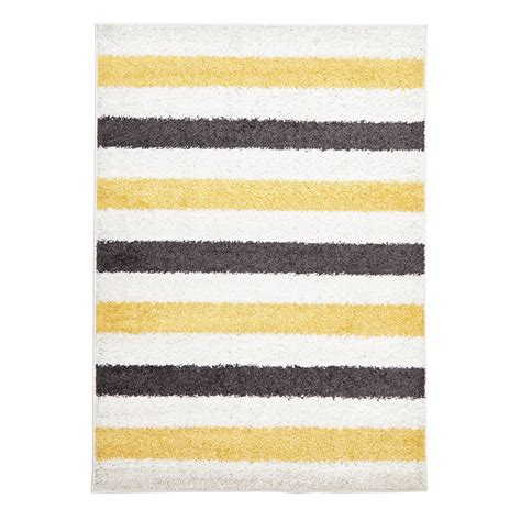 yellow and white rug stripe polypropylene rug white yellow grey sizes available tough luxe the home