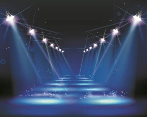 powerpoint templates stage light stage and spotlights design vector 02 over millions
