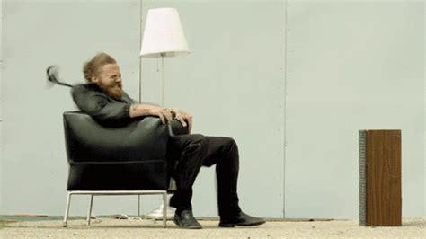 Sitting In Chair In Front Of Speaker by Just Joep Not Memorex
