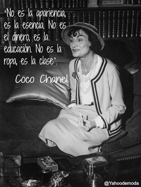coco chanel biography in spanish quot no es la apariencia es la esencia no es el dinero es