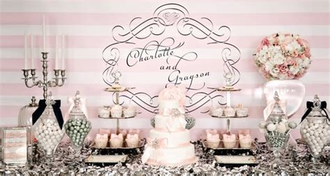 Pink and Silver Dessert Table   Pretty My Party