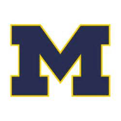 Block M Outline by Michigan Football Clipart 42