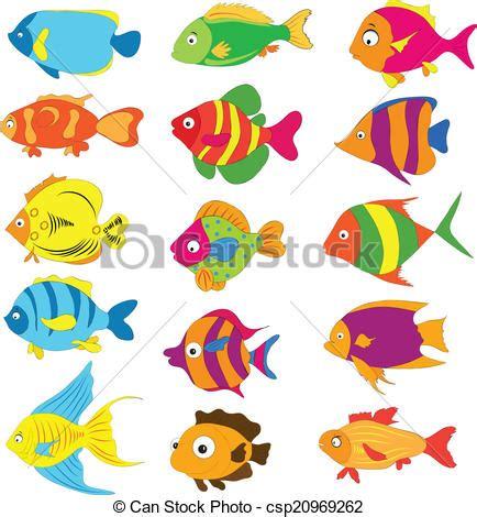 clipart pesce pesci tropicali set vettore di clip cerca disegni e