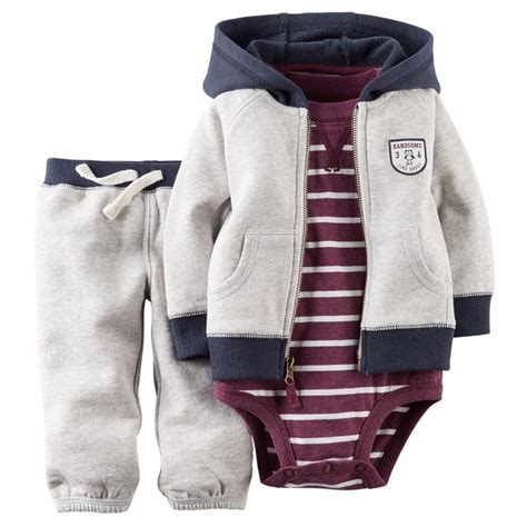 Carters Pant 3 In 1 24 Month carters newborn 3 6 9 12 18 24 months cardigan bodysuit set baby boy clothes ebay