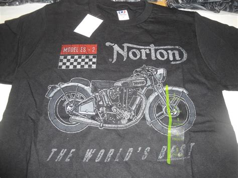 Tshirt Norton Motorcycle norton motorcycles t shirt model es 2 biker black mens
