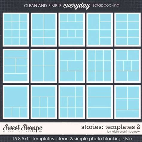 card template photoshop 11 8 5 8 5 x 11 layout scrapbook layouts project