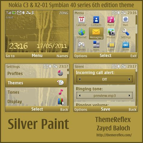 themes for mobile x2 01 silver paint theme for nokia c3 x2 01 themereflex