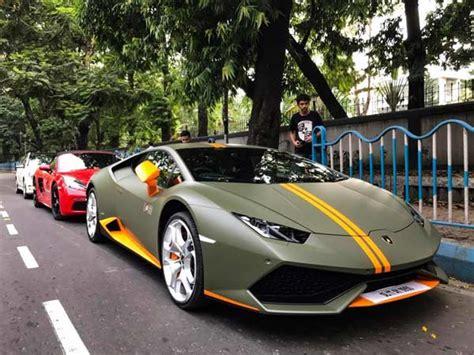 Lamborghini 4 Wheeler Lamborghini Huracan Avio Makes Its Way To Kolkata Drivespark