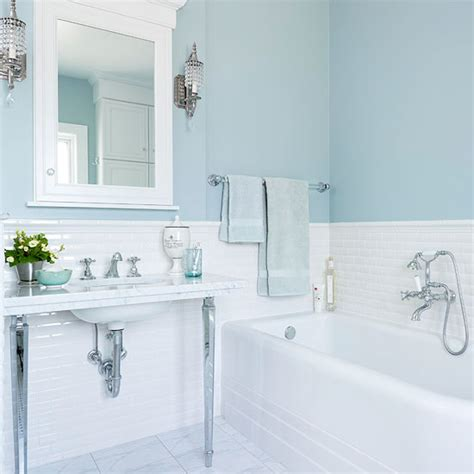 light blue bathroom walls buying a tub