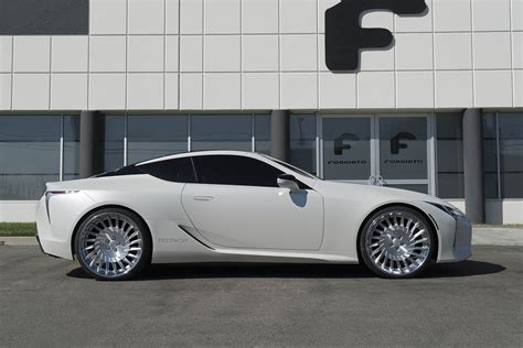 lexus forgiato lexus lc500 looks even more futuristic on 24 inch forgiato