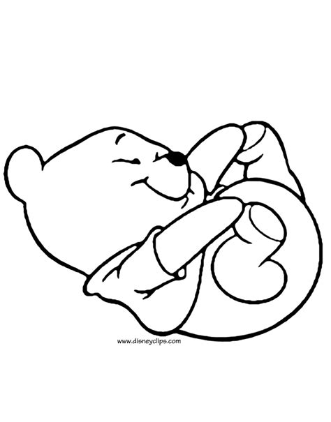 disney baby pooh printable coloring pages disney