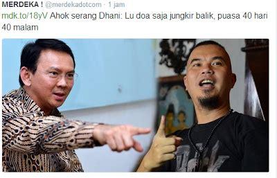 Lu Sorot Untuk Panggung ahok lecehkan sholat umat islam lu doa aja jungkir balik
