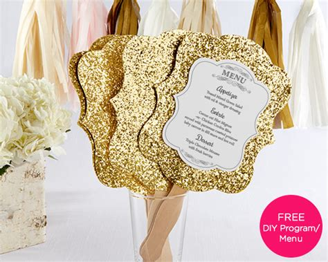 golds the fan personalized gold glitter fan set of 12