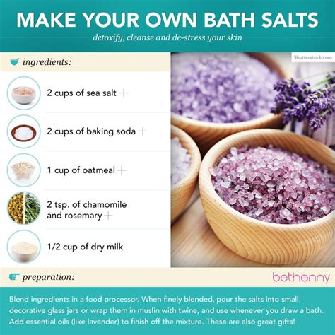 Your Own Spa by Make Your Own Bath Salts With Sea Salt To Detoxify