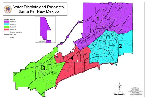 gis city of santa fe district and precinct map city of santa fe new mexico