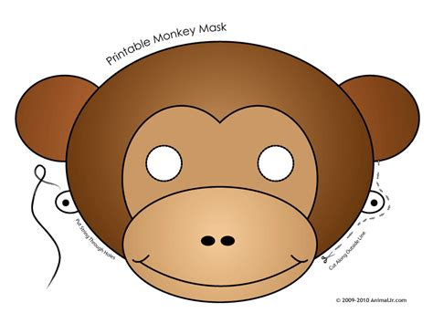 printable monkey mask template animal kaiser singapore october 2011