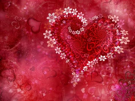 flowers abstract hearts holiday love poem red valentine  wallpaperscom