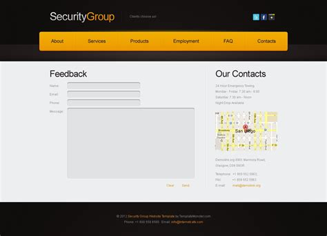 Free Website Template For Security Project Free Project Website Templates