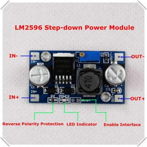 buy lm2596 adjustable step module in india at