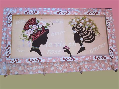 Hd Home Decor perchero vintage con damas antiguas