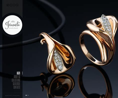 Jewelry Website Template 43966 Jewellery Web Templates