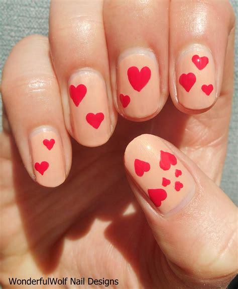 easy nail art heart simple nail art wonderfulwolf