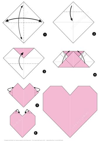origami heart boat origami heart instructions free printable papercraft