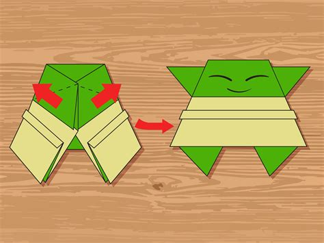 Step Origami - 3 ways to make an origami yoda wikihow
